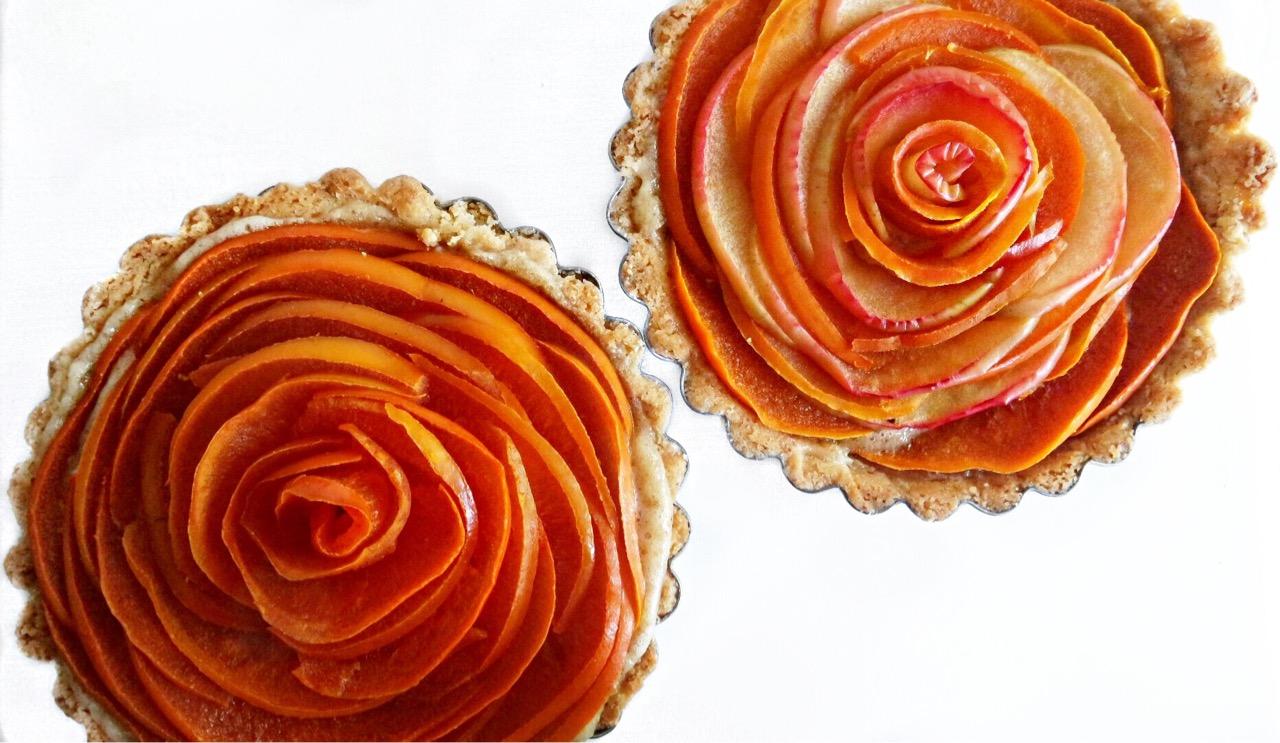 Rose Persimmon Tart -- Miss Foodie Problems